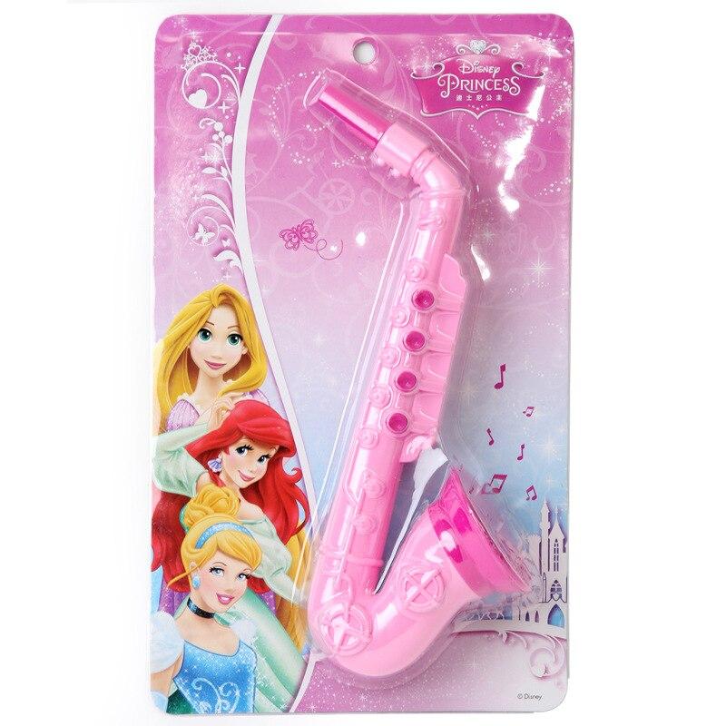 Disney Kid Toys Mickey Frozen Princess Series Simulation Saxophone Girl Toys Children's Birthday Gift Music Toys Sensory Hearing
