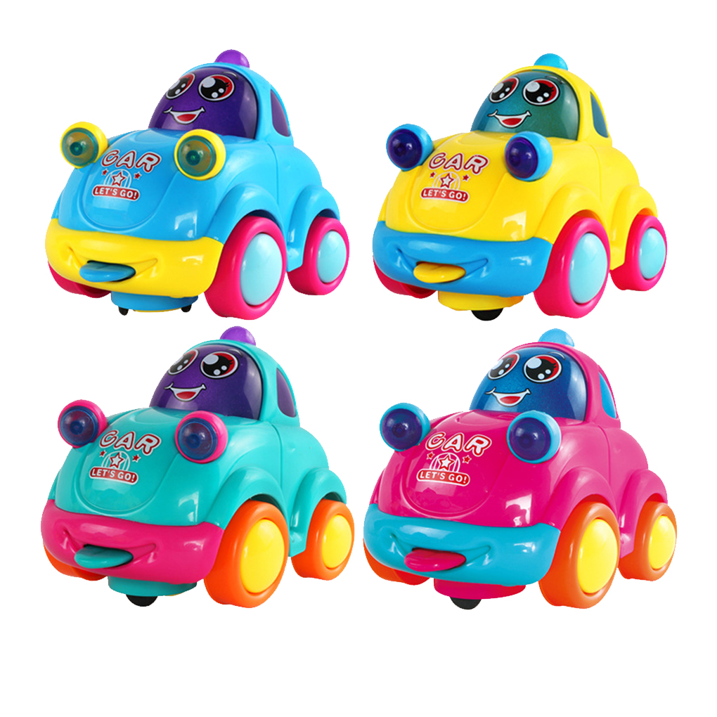 1PC Baby Boys Girl LED Flashing Music Electric Toys Car Remote Control Car Kids Car Cute Cartoon Musical Light Child Race Toy