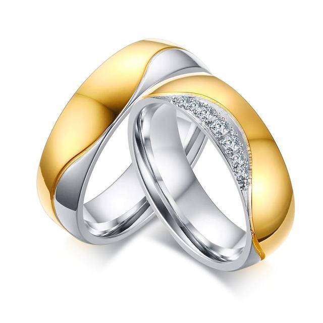 Rings Set For Men Women Fashion Wedding Brand Ring Cubic Zircunia Designer Pair Two