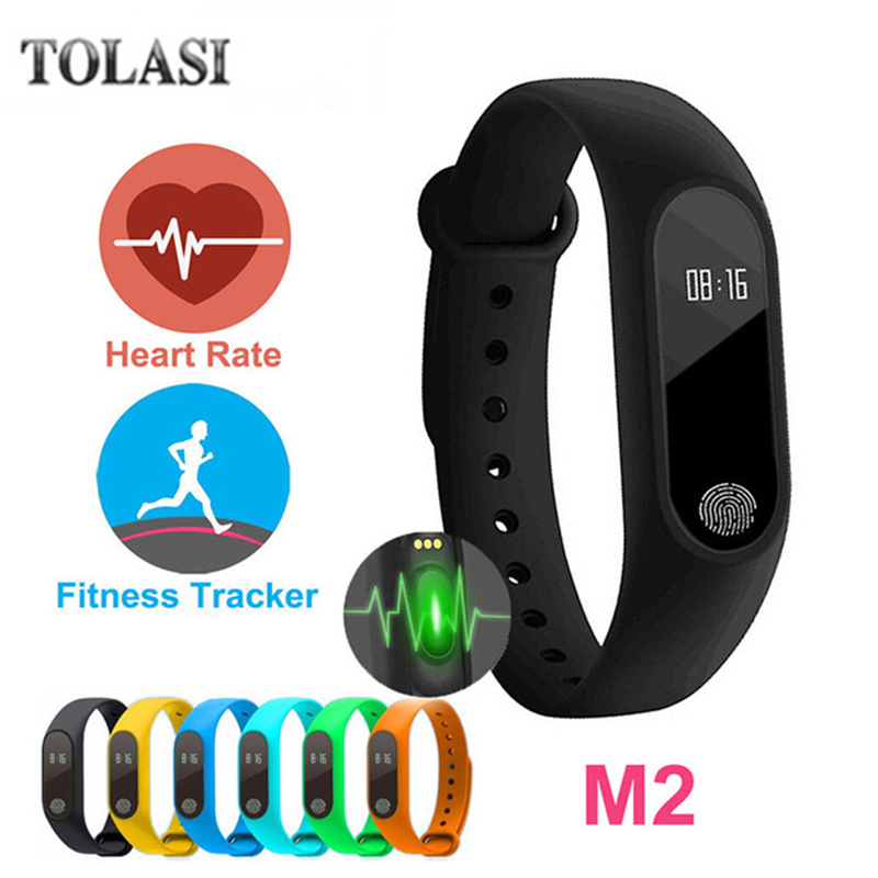 цена на Smart Bracelet M2 Waterproof Wristband Heart Rate Monitor Fitness Tracker Bluetooth Smart Band for Android iOS Phone Smartband