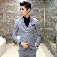 Для мужчин блейзеры костюмы Нежные Для мужчин торговли Для мужчин Повседневное Блейзер Костюмы Slim Fit пиджаки Мужской 3 шт. костюм Homme Plus Разм