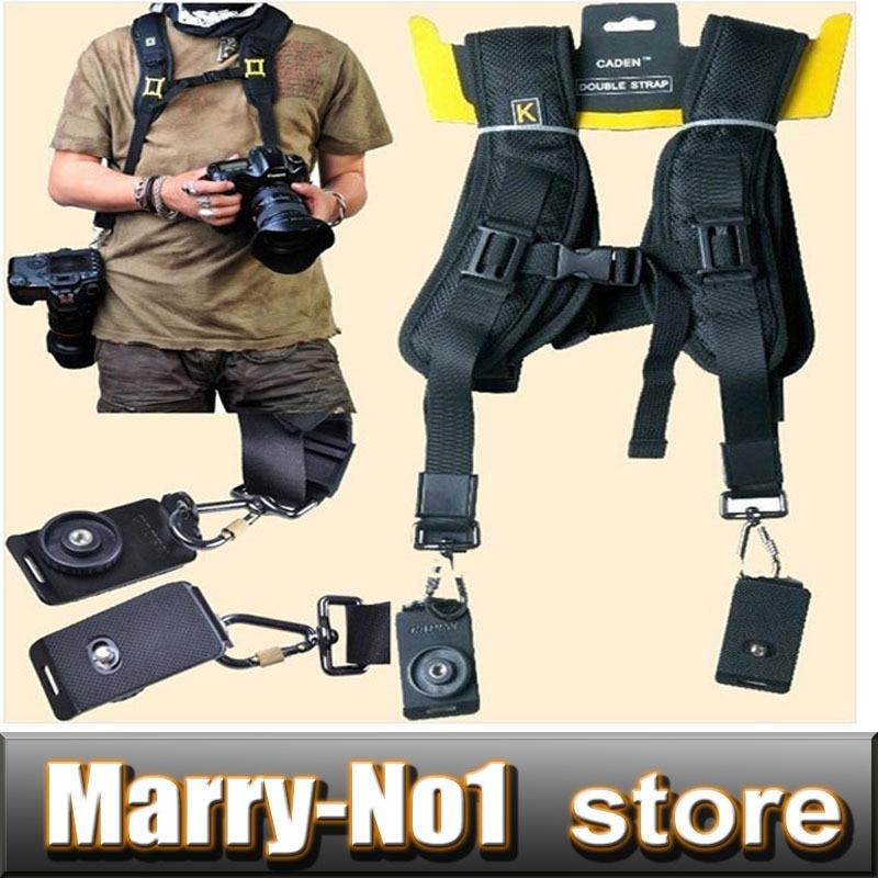 Soft Quick Double Camera Sling Neck Shoulder Belt Strap for DSLR camera CANON 5D2 5D3 5D4 60D NIKON D7000 D3100 D3200 D5300