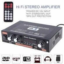 Универсальный G30 HIFI Bluetooth автомобильный аудио усилитель мощности FM радио плеер Поддержка SD/USB/DVD/MP3 с пультом дистанционного управления