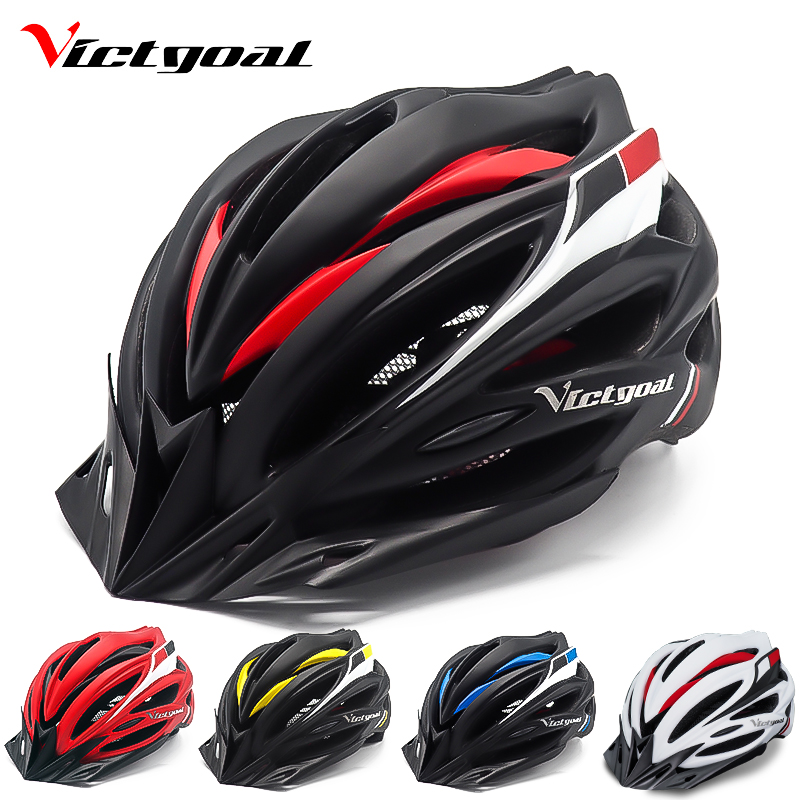 VICTGOAL Bicycle Helmet Backlight Ultralight Bike Helemts Visor For Men Women Mountain Road Cycling Helmet With Light Kids Adult hjphoebag fashion women black backpacks luxury large capacity students backpack high quality pu school bags travel bag w 497