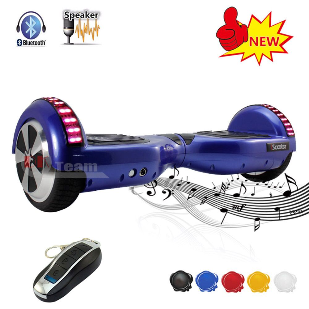 6.5 inch <font><b>Bluetooth</b></font> Hover board 2 Wheel Electric Scooter UL2272 Smart Hoverboard Balance Electric Skataboard With LED Scooter