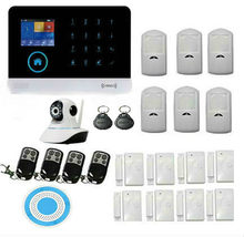 Wifi wireless home sistema de alarma de seguridad diy kit de negocios con dial auto motion detectores de cámara ip sirena de seguridad completa