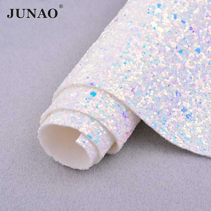 JUNAO 20*34 см массивная блестящая искусственная кожа блестящая ткань искусственная кожа синтетическая ткань листы кожзам для поделок своими руками