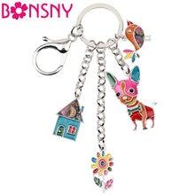 Брелок для ключей bonsny брелок дома с эмалью мужчин и женщин