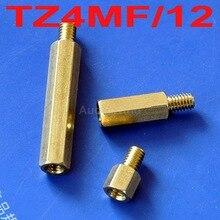 (10 pçs/lote) 12mm M4 Latão Hex Standoff Pillar, masculino-Feminino.