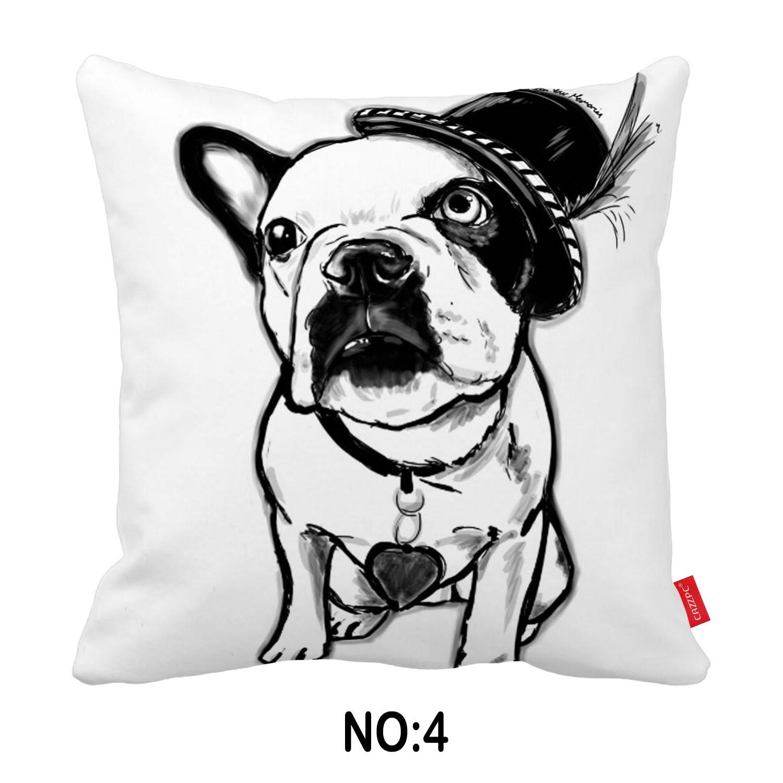 Uncategorized Bulldog Pictures To Print aliexpress com buy watercolor pop art cat bulldog dachshund dog print car decorative throw pillowcase pillow case cushion cover