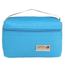 Практическая небольшой портативный мешки льда 4 цвета водонепроницаемый нейлон сумка-холодильник обед мешок досуг Пикник пакет Bento Box пищевые тепловой bag