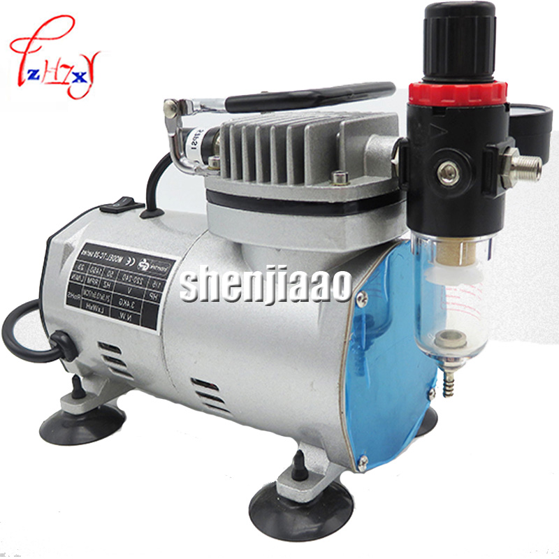 цены 110V 220 V  23-25 L/ min 1/5Hp Small Airbrush MS18-2 Compressor Small Vacuum Pump A 18B model airtight pump