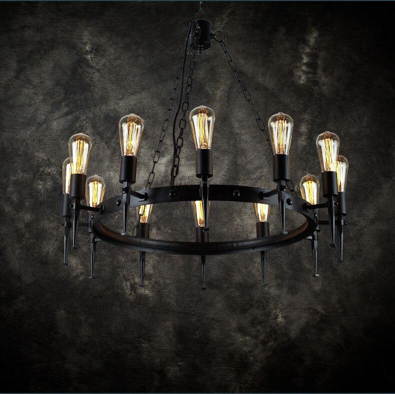 pendant light Retro industry LOFT Nordic retro lamps creative personality iron industrial wind restaurant GY222