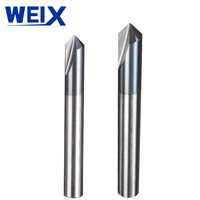 90 WEIX 1pc 3 Flutes HRC45 Chamfer End Mill Angle 90 for steel Router Bit Tool Carbide Milling Cutters Mayitr Tungsten steel (3)