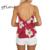 GTIME Camisola sin Mangas Otoño Ocasional Sin Mangas Del V-cuello de Satén ropa de Noche Negro Mujeres Chic Red Beach Party Corto Superior # WGT132