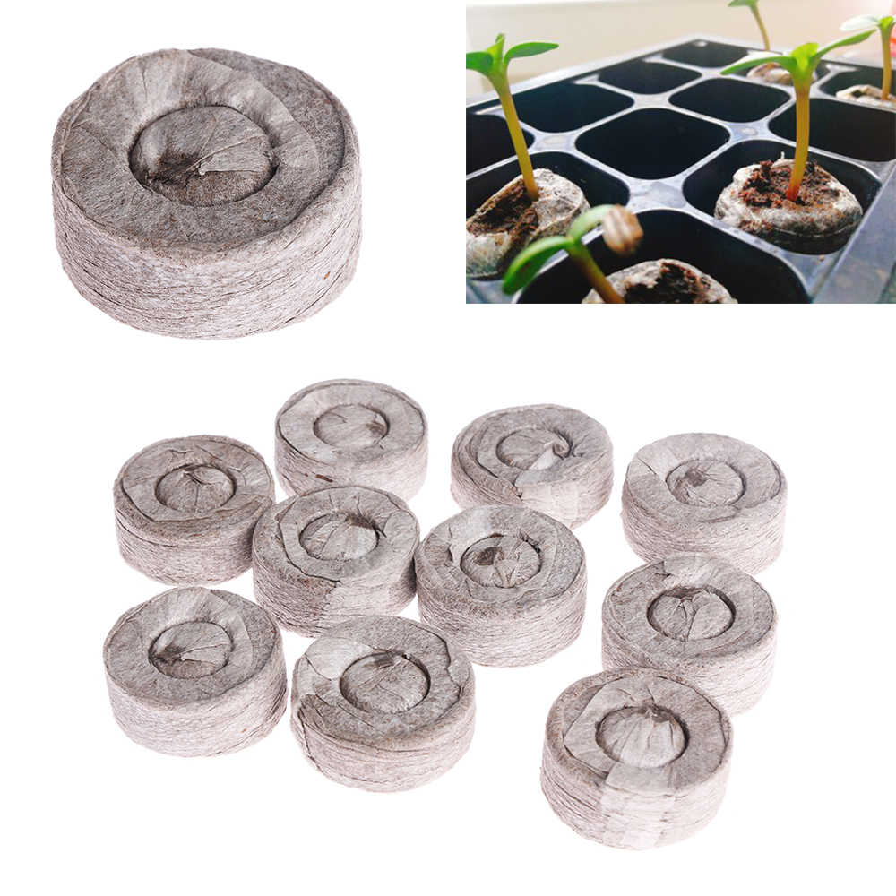 1PC Home Garden Suppliers Compressed Block Gardening Tool Potted plant Seed Nursery Pot Nutritional Soil Peat Pellets Wholesale
