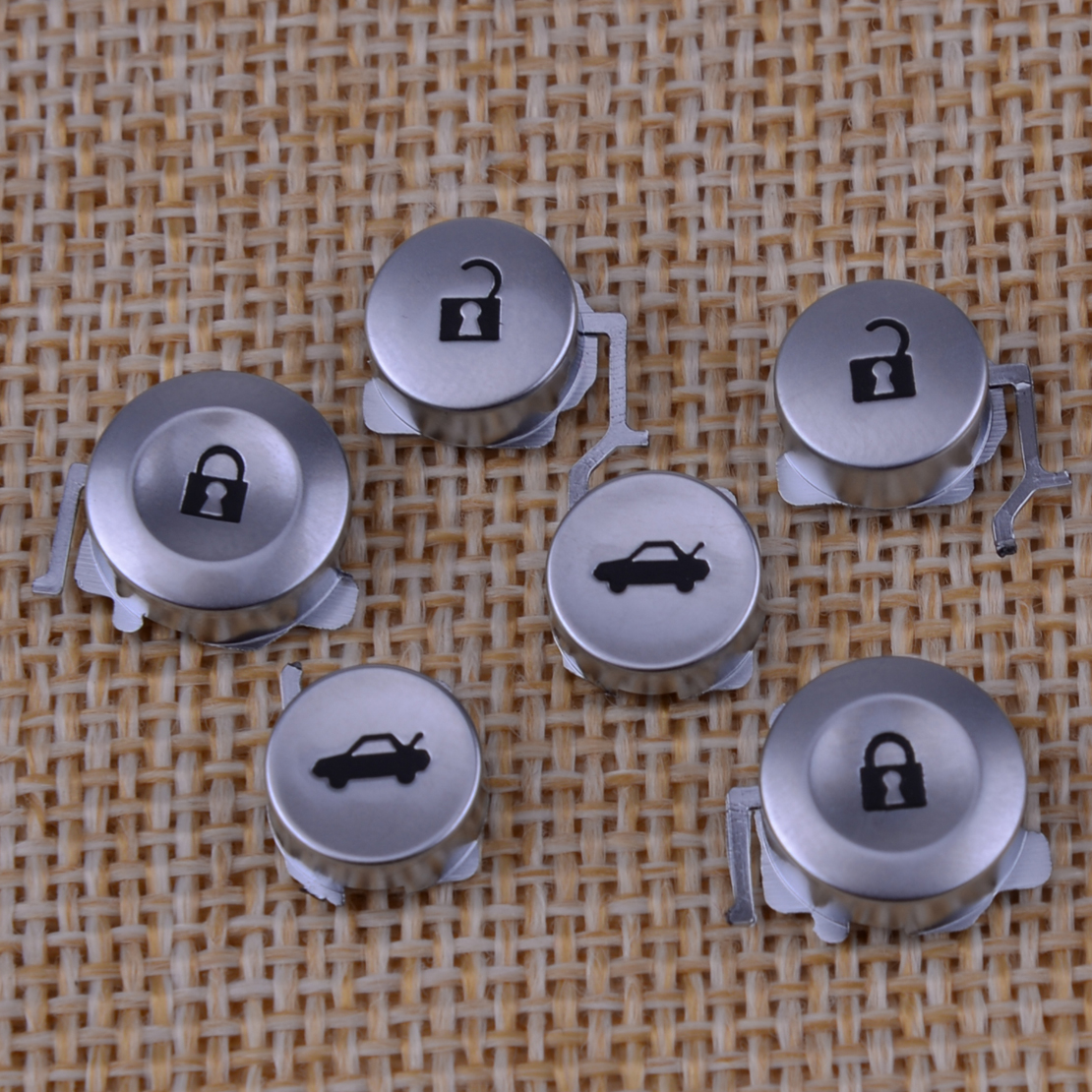 CITALL New 2 Pairs 3 Buttons Car <font><b>Remote</b></font> <font><b>Key</b></font> Pad FOB Kit Replacement Accessories Fit for <font><b>Honda</b></font> Civic Accord <font><b>Jazz</b></font> CRV HRV image