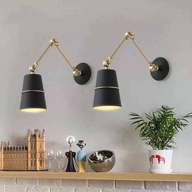 Post moderne creatieve woonkamer slaapkamer wandlamp Nordic ...