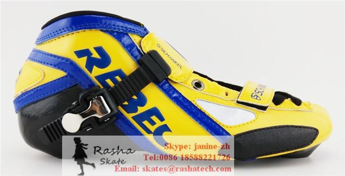 Prix pour REBEC chaussures roller Professionnels patins à roulettes enfant adulte boot vitesse de patinage boot livraison gratuite