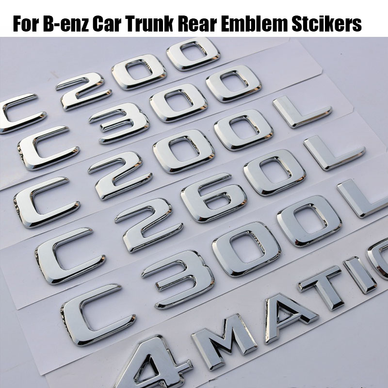 CGI Mercedes Benz W211 W212 E200 W204 C350 C63 Trunk Rear Emblem Badge Letters