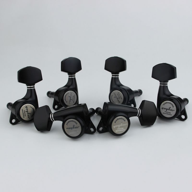 GUYKER BLACK Guitar Locking Tuners Electric Guitar Machine Heads Tuners Lock Guitar Tuning Pegs With packaging
