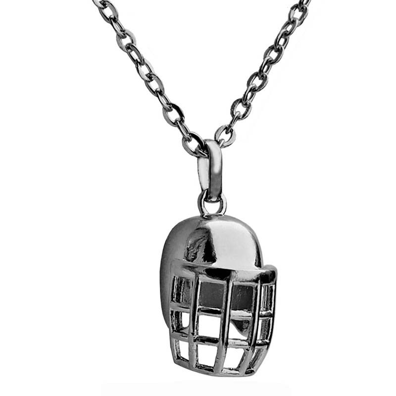 Rugby Helmet Pendant Choker Necklace for Women American Football Lovers Gun Black Plated Sports Jewelry 2017 New Design