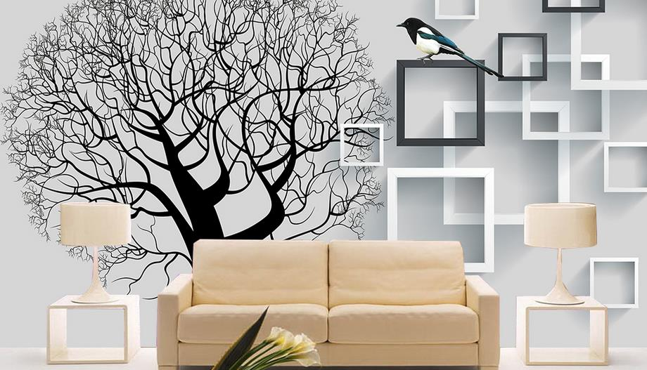 US $35 98 |custom 3D bedroom wallpaper Box tree tree background wall 3d  photo wall murals nonwoven wallpaper-in Wallpapers from Home Improvement on