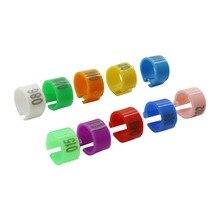 8 мм цифровой кольцо на лапу птицы Пластик No.1-100 идентификации пряжка Тип зажим кольца 10 видов цветов перепелиные яйца птицы принадлежности для кормления 100 шт