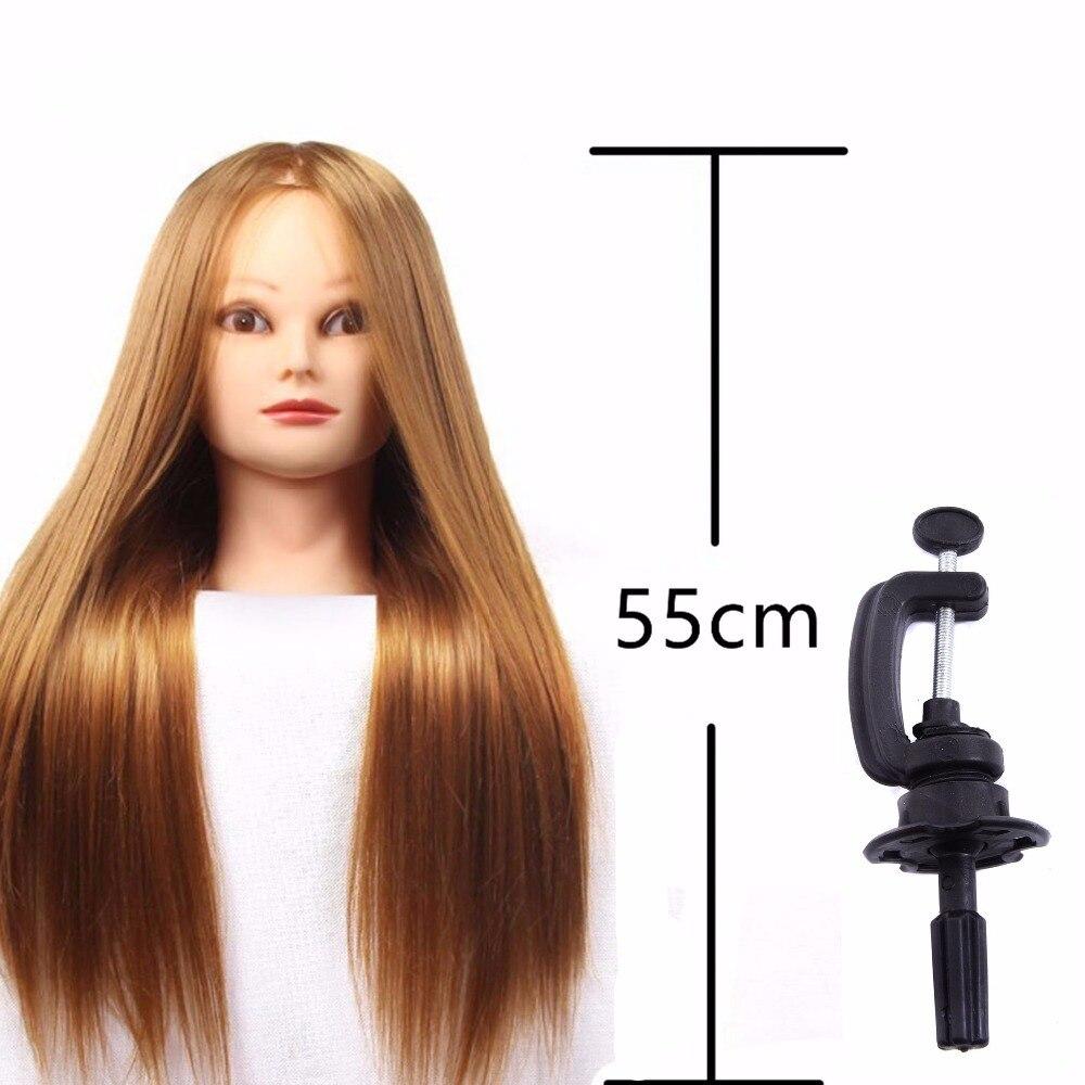 Styling Profesional Kepala Dengan Rambut Emas 60 Cm Tebal Wig Hotfix Untuk Penata Pelatihan Bagus Manekin Di Dari Aliexpresscom