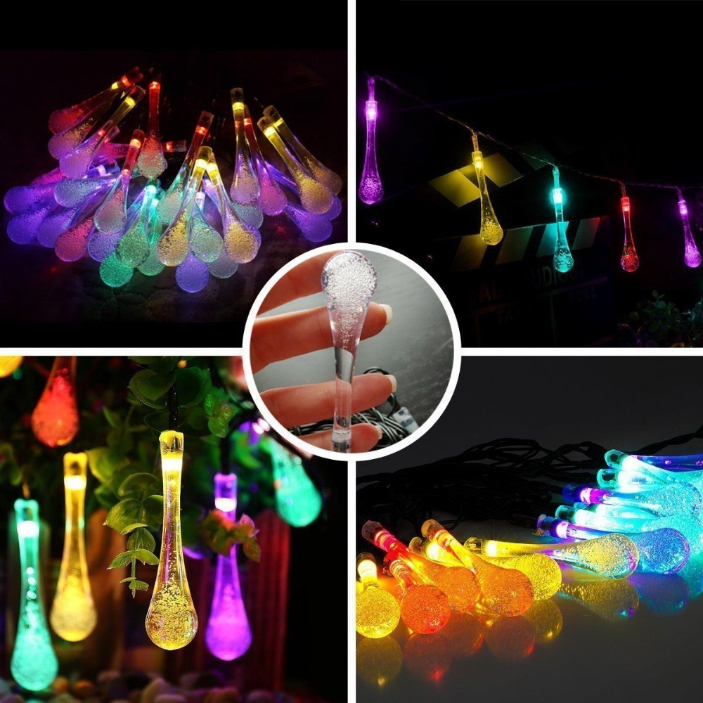 T-SUN Solar Powered 30 LED Fairy String Lights Colourful Bright for Outdoor Garden Homes Christmas Party (Mulit-color)