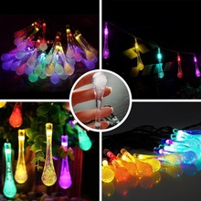 30 LED String Waterproof Solar Fairy Lights Solar Garland Outdoor String Lights Solar Powered light for Garden Christmas Party все цены