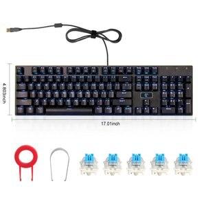 Image 4 - E 要素 Z 88 rgb メカニカルゲーミングキーボード、プログラマブル rgb バックライト、ブルースイッチ触覚 & カチッという感じ、防水 104 キー