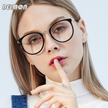 Belmon Spectacles Frame Women Computer Optical Prescription Eye Glasses Frame Eyewear Transparent Clear Lens Eyeglasses 97547