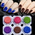 6Colors Nail Glitter Powder Shinning Dust Decoration Kit For Nail Art Acrylic Tips UV Gel Gorgeous Pigment DIY Decoration Tool
