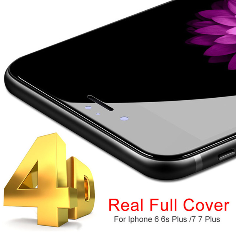 Galleria fotografica 9H Hardness 4D 5D Curved Edge Full Cover Tempered Glass for iphone 6 6s 6 plus iPhone 7 7 plus Premium Screen Protector film