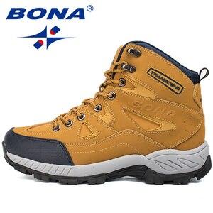 Image 3 - بونا جديد وصول الرجال حذاء للسير مسافات طويلة المضادة للانزلاق في الهواء الطلق أحذية رياضية المشي الرحلات تسلق أحذية رياضية Zapatillas أحذية مريحة