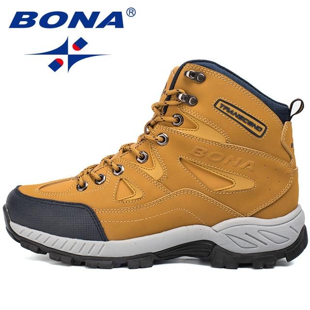 BONA New Arrival Men Hiking Shoes Anti-Slip 4