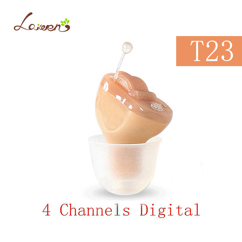 T23 Best China 4 Channels Digital Hearing Aid Invisible Hearing Aids Sound Amplifier for The Elderly