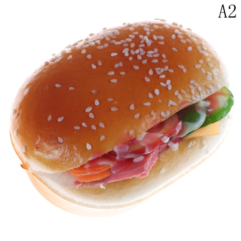 Smart Slow Rising Soft Hamburgers Fridge Magnet Stickers Whiteboard Magnets Squishy Bread Artificial Fake Cake Kid Toy Mobile Phone Accessories