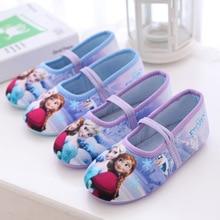 Дисней девушка замороженная Эльза Анна танцевальная обувь детская плоская обувь Дисней домашняя мягкая обувь