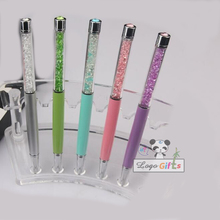 Sale muslim wedding Favors and gifts crystal pens custom print with wedding date/names for wedding backdrops party decorations personalized with wedding date bride and bridegroom names wedding favors diamond ballpoint pens crystal capacitive pen