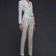 Women Pant Suits Ladies Custom Made Formal Business Office Tuxedo Jacket+Pants