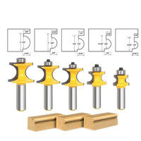 5pcs Set Bit Bullnose Router Bit Set C3 Carbide Tipped 1 2 Shank