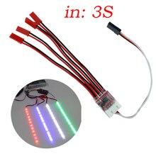 Batterie lipo RC 11.1V 3S contrôleur clignotant d'éclairage LED pour hélicoptère multicopte quadrirotor