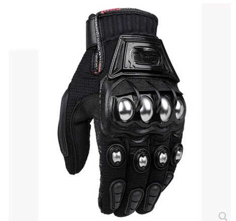 Off-road racing motorcycle riders riding full finger gloves men's stainless steel drop resistance the locomotive car off road motorcycle 4 sets of four summer leggings kneecaps fall proof stainless steel brace length