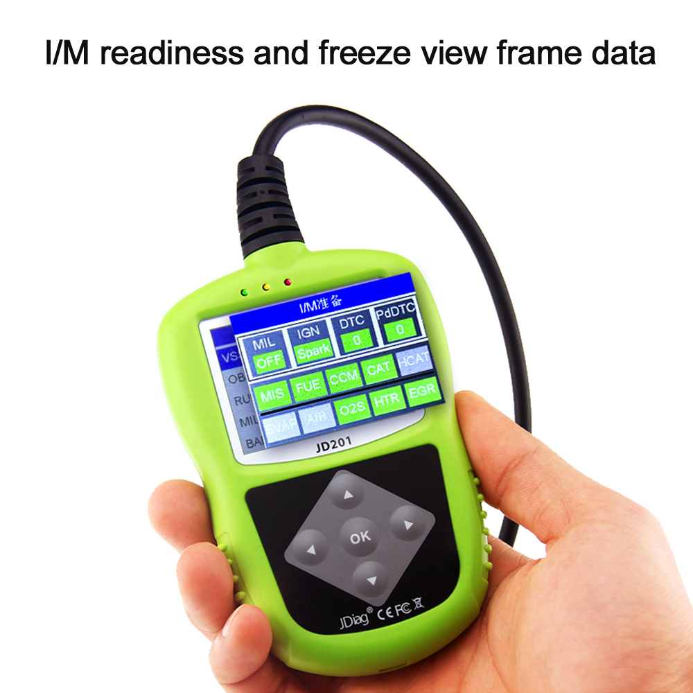 Jdiag Jd201 Code Reader Car Diagnostic Scan Tool Obdii Eobd Can 1966 Chevy Nova Which Froze With An Alternatorwiring Scanner Color Screen Diagnostics In Engine Analyzer From Automobiles Motorcycles