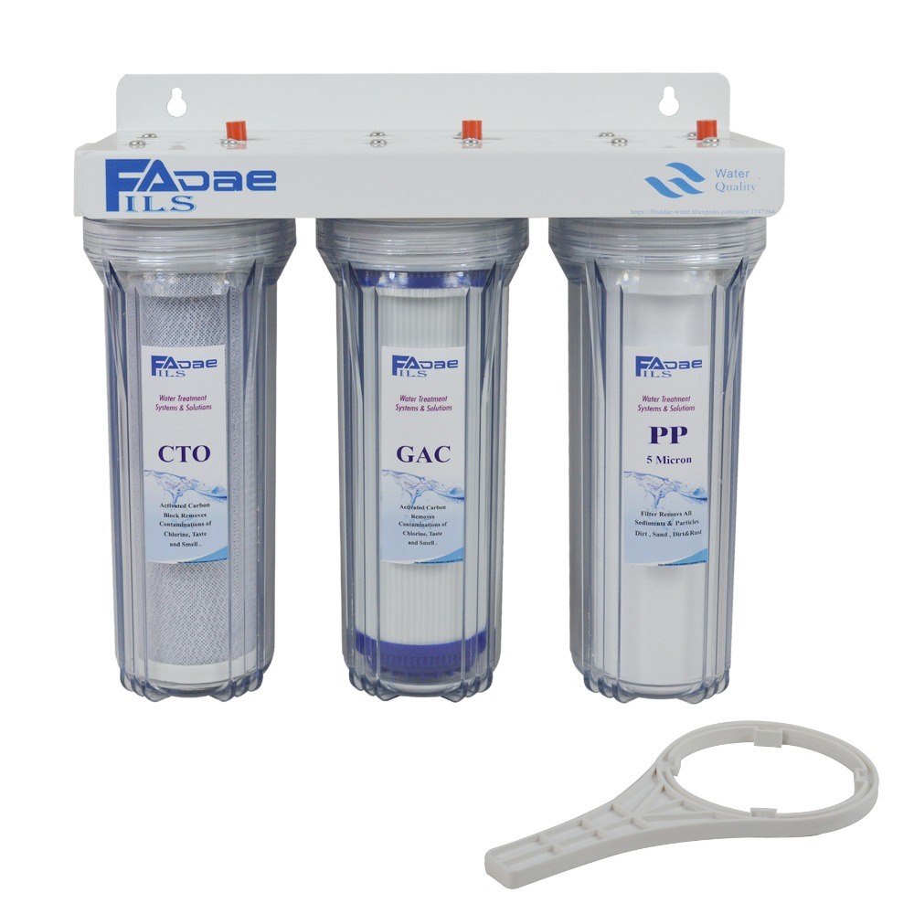 High Quality Three Stage Whole House Water Filtration System With