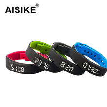 USB A7 Sport Smartband Bracelet Time Display Smart Watch with Calorie Pedometer Temperature Sleep Monitor Waterproof Wristband