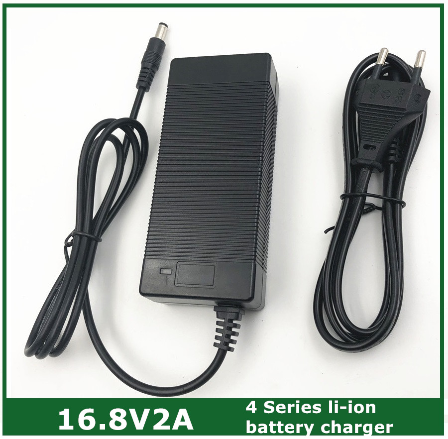 16.8V2A 16.8V 2A lithium li-ion battery charger for 4 series 14.4V 14.8V lithium li-ion polymer batterry pack good quality 12 6v 2a lithium battery charger eu us plug 12 6 v charger 3 series li ion battery polymer smart charger 18650 battery pack