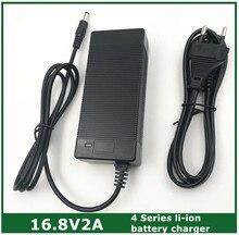 16.8V2A 16.8V 2A lithium li ion chargeur de batterie pour 4 séries 14.4V 14.8V lithium li ion polymère batterry pack bonne qualité